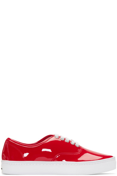 Junya Watanabe - Red Patent Leather Sneakers