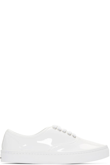 Junya Watanabe - White Patent Leather Sneakers