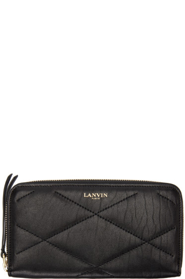 Lanvin - Black Leather Long Wallet