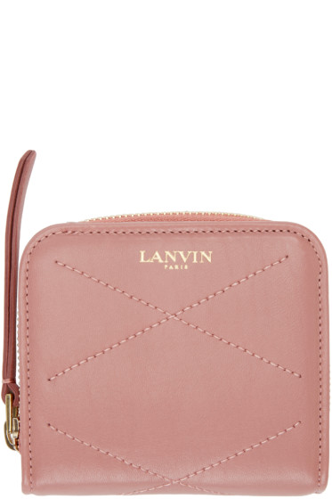 Lanvin - Pink Leather Compact Wallet