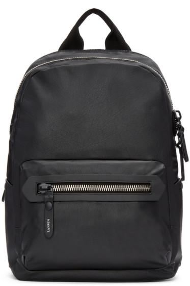 Lanvin - Black Leather Backpack