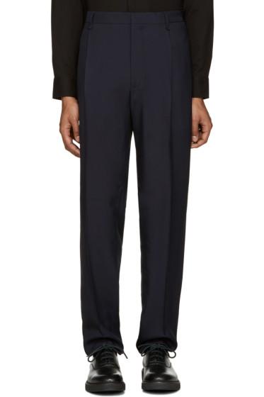 Lanvin - Navy Wide-Leg Trousers