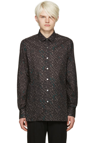 Lanvin - Black Print Shirt