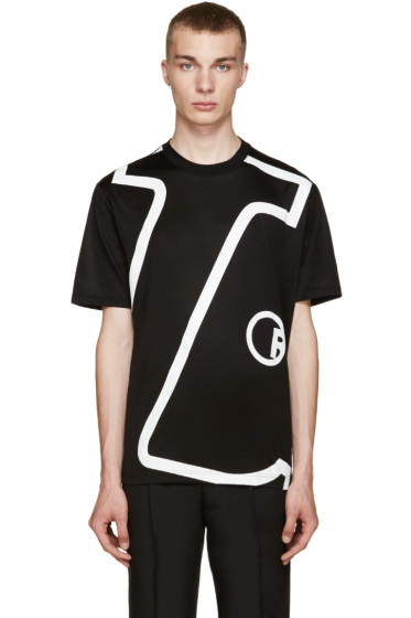 Lanvin - Black 'L' T-Shirt