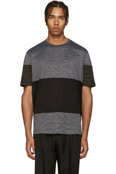 Lanvin - Black Striped Mix T-Shirt