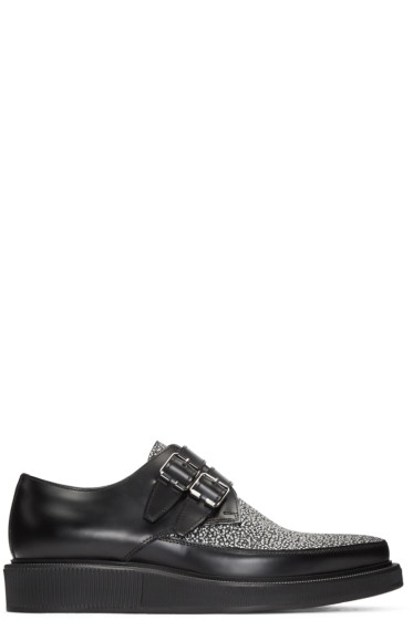 Lanvin - Black & White Leather Creepers