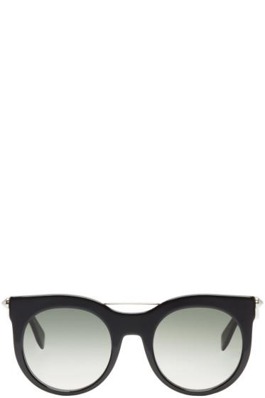 Alexander McQueen - Black Round Gradient Sunglasses