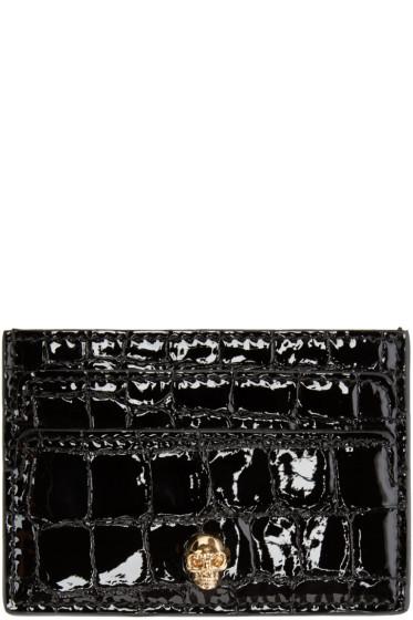 Alexander McQueen - Black Skull Card Holder