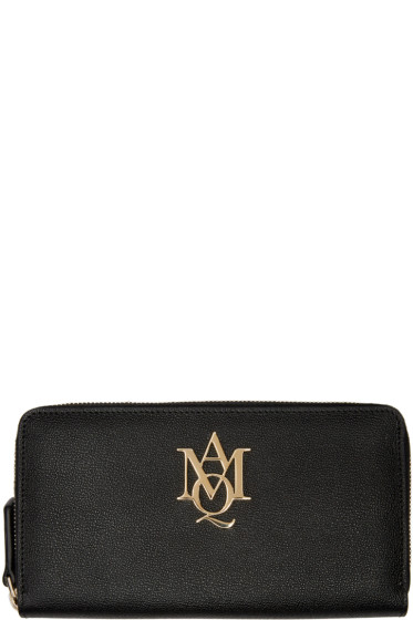Alexander McQueen - Black Insignia Wallet