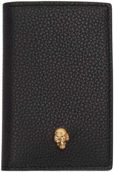 Alexander McQueen - Black Leather Skull Wallet