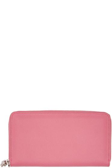 Alexander McQueen - Pink Zip Skull Wallet