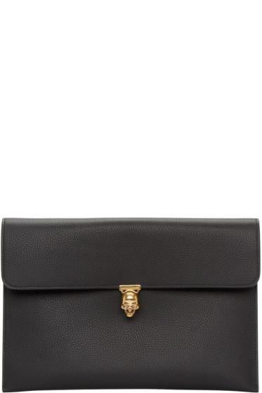Alexander McQueen - Black Skull Envelope Clutch