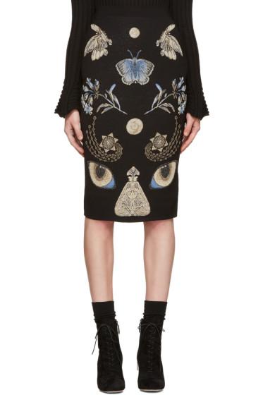 Alexander McQueen - Black Jacquard Obsession Skirt