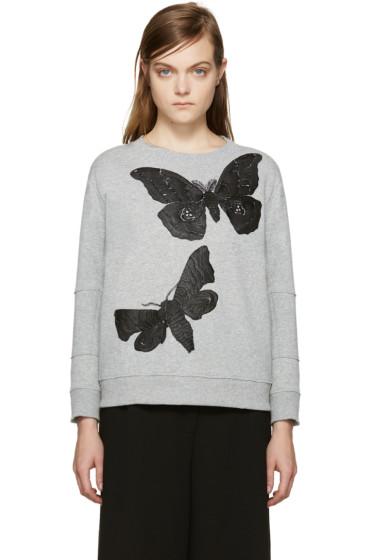 Alexander McQueen - Grey Butterflies Pullover