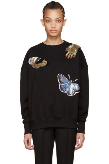 Alexander McQueen - Black Oversized Obsession Sweatshirt