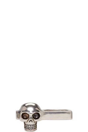 Alexander McQueen - Silver Knuckle Skull Ring