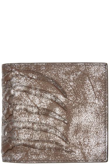 Alexander McQueen - Silver Ribcage Bifold Wallet