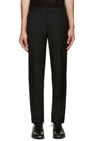 Alexander McQueen - Black Wool Trousers