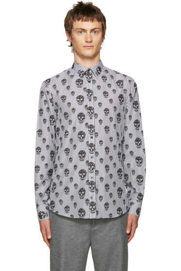 Alexander McQueen - Black Stripes & Skulls Shirt