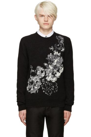 Alexander McQueen - Black Floral Sweater