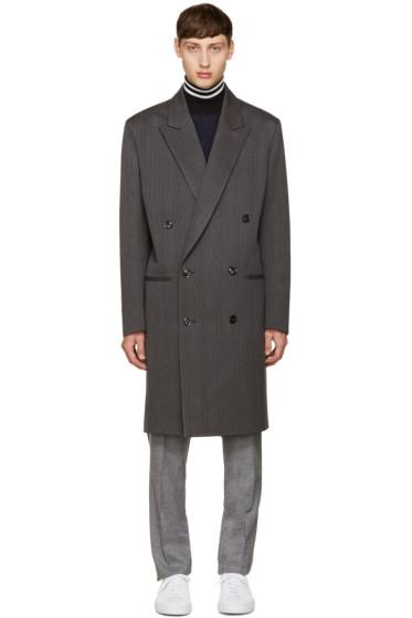 Paul Smith - Grey Herringbone Coat
