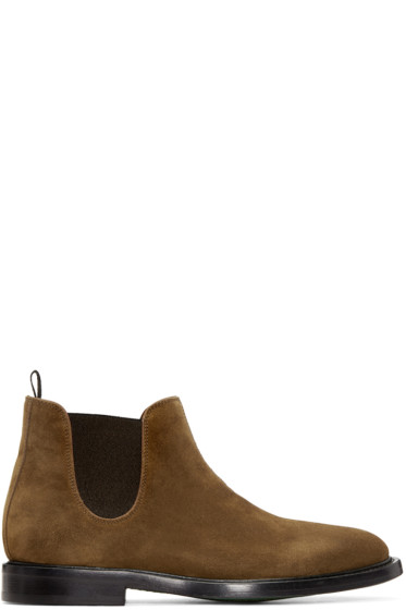 Paul Smith - Tan Suede Drummond Chelsea Boots
