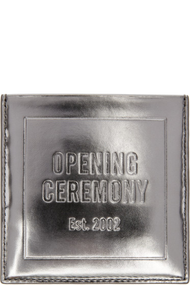 Opening Ceremony - Silver Square Card Holder