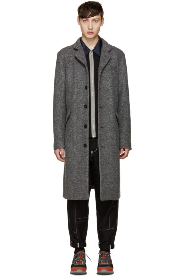 Opening Ceremony - Grey Standard Collar Coat