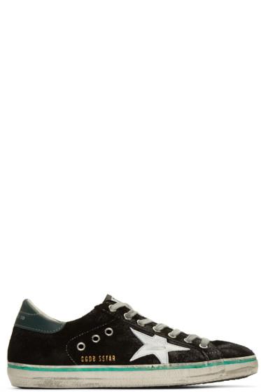 Golden Goose - Black Suede Superstar Sneakers