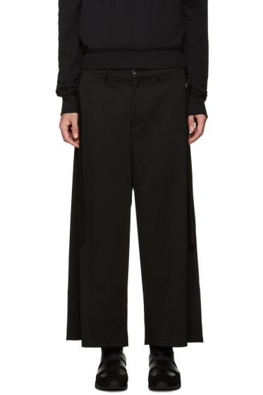 Damir Doma - Black Wide-Leg Wool Trousers