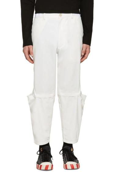 Comme des Garçons Shirt - White Cut-Out Trousers