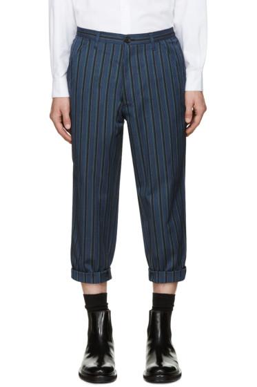 Comme des Garçons Shirt - Blue Striped Trousers