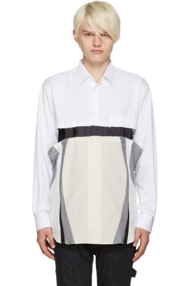 Comme des Garçons Shirt - White Cut-Out Shirt