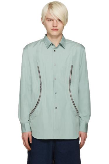 Comme des Garçons Shirt - Green Zipper Shirt