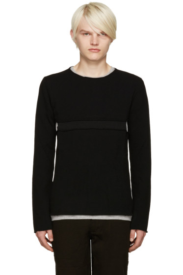 Comme des Garçons Shirt - Black Cut-Out Sweater