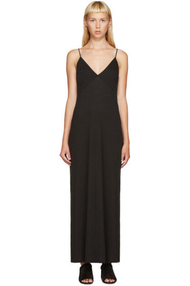 Raquel Allegra - Black Jersey Slip Dress