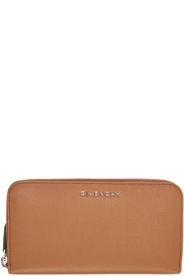 Givenchy - Tan Pandora Zip Wallet