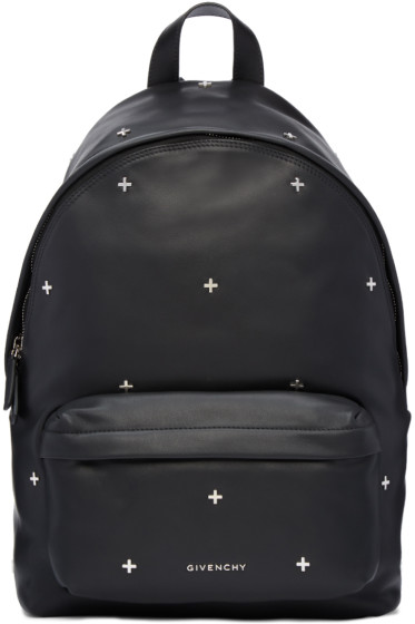 Givenchy - Black Leather Cross Backpack