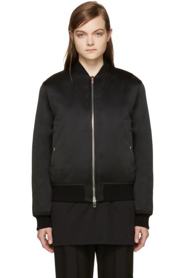 Givenchy - Black Satin Bomber Jacket