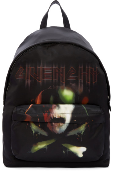 Givenchy - Black Skull Backpack