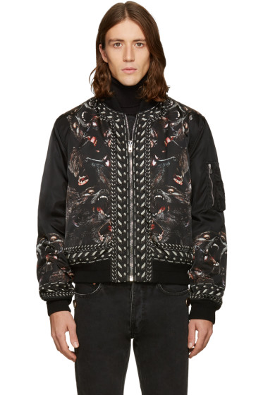 Givenchy - Black Monkey Brothers Bomber Jacket