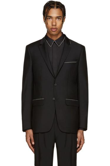 Givenchy - Black Wool Chain Blazer