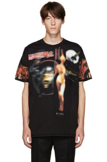 Givenchy - Black Distressed Printed T-Shirt