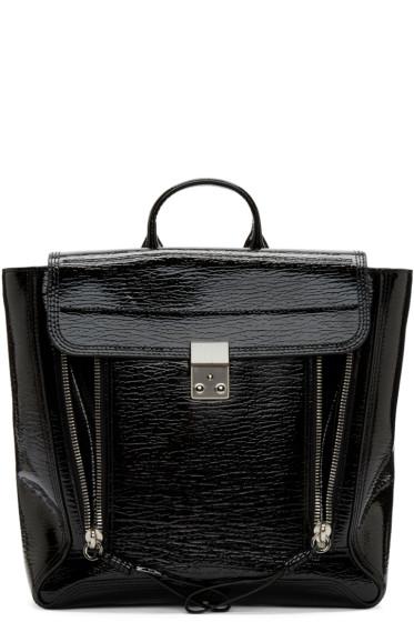 3.1 Phillip Lim - Black Patent Leather Pashli Backpack