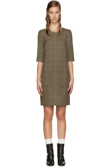 3.1 Phillip Lim - Brown Glen Plaid Sack Dress