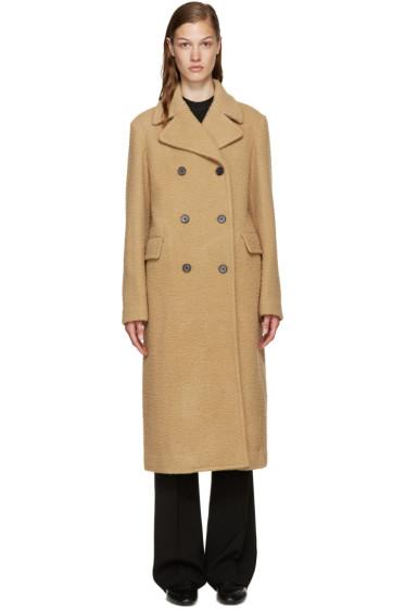 3.1 Phillip Lim - Camel Wool Long Car Coat