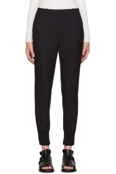 3.1 Phillip Lim - Navy Pinstripe Jogger Trousers