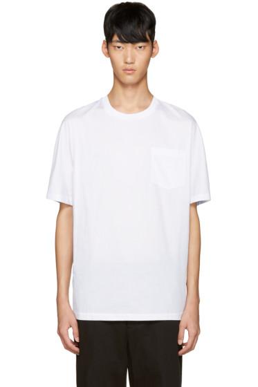 3.1 Phillip Lim - White & Blue Dolman T-Shirt