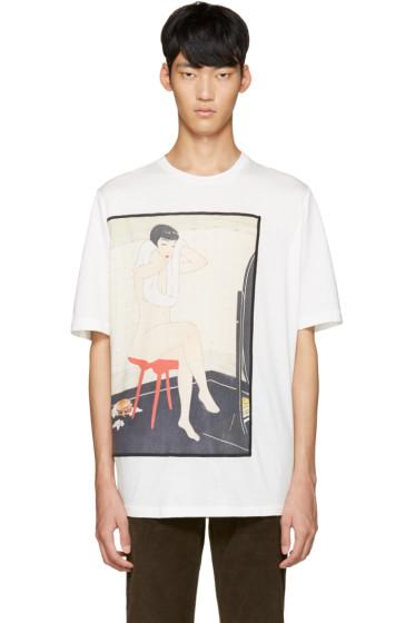 3.1 Phillip Lim - White Graphic T-Shirt