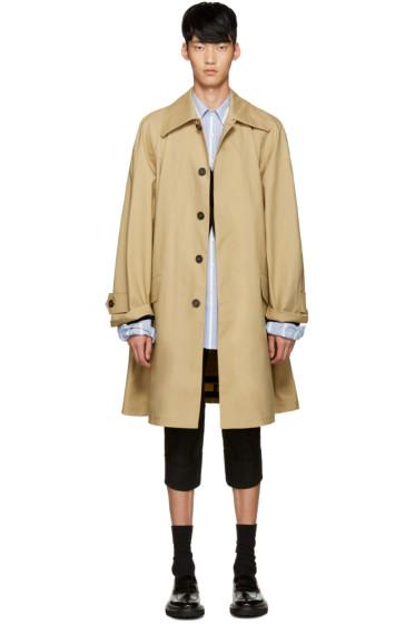 Raf Simons - Beige Mackintosh Rain Coat